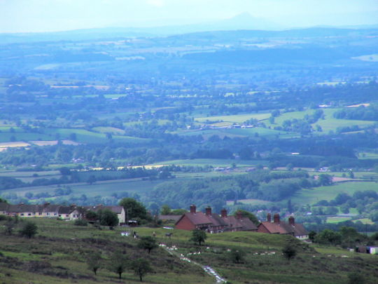 View towards Wales from Clee Summit in Shropshire, England. Photo (c) 2012 Keith Bramich