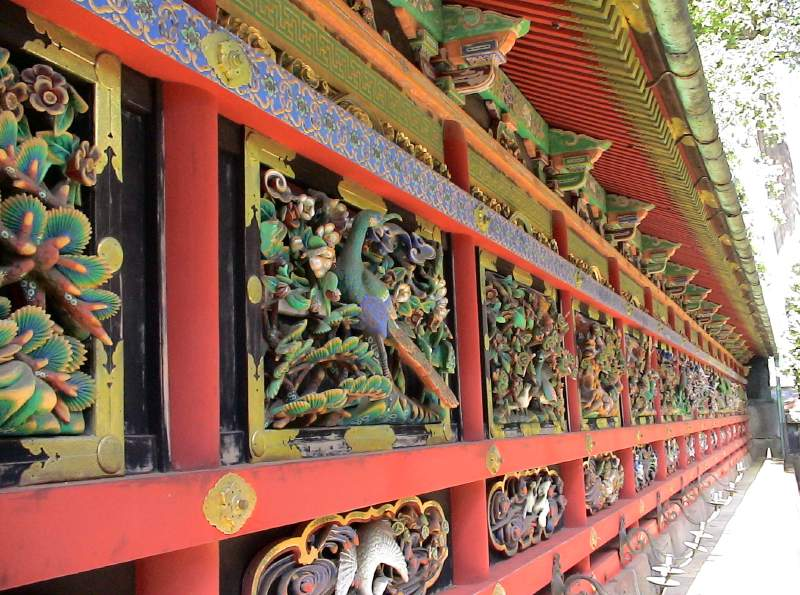Part of a temple at Nikko in Japan